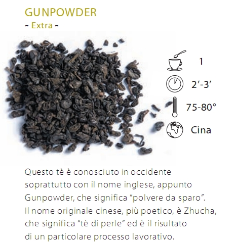 TE' VERDE EXTRA GUNPOWDER(CAMELLIA THEA) - 100 gr.
