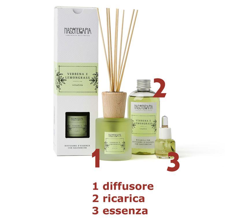 Essenza aromatica Verbena e Lemongrass 15ml - Nasoterapia