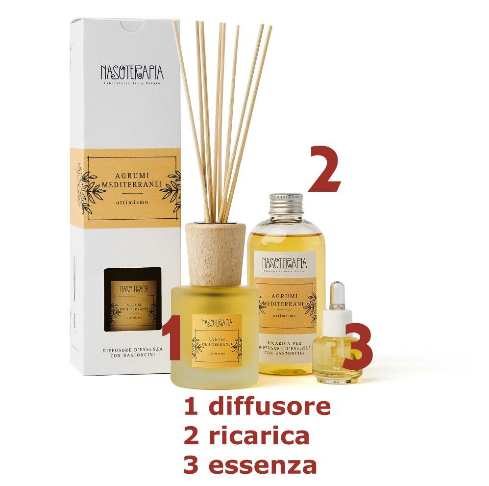 Essenza aromatica Agrumi Mediterranei 15ml - Nasoterapia