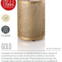 Lampada diffusore a Ultrasuoni Gold
