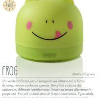 Lampada diffusore a ultrasuoni Frog