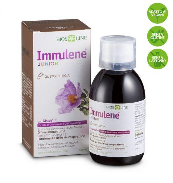IMMULENE JUNIOR 200 ML LIQUIDO - BIOSLINE