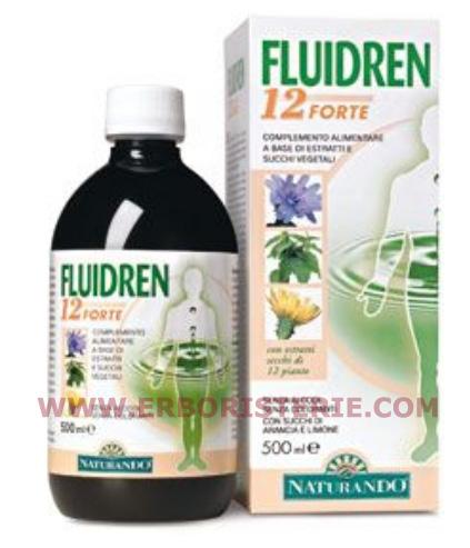 FLUIDREN 12 FORTE ML 500 -ELIMINAZIONE LIQUIDI