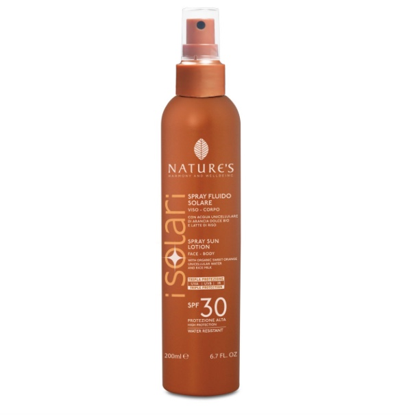 SPRAY SOLARE FLUIDO SPF30 ML200 NATURE'S