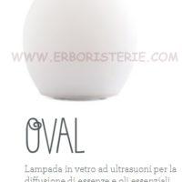 Lampada in vetro diffusore a ultrasuoni Oval