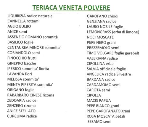 TERIACA VENETA - 100 gr.
