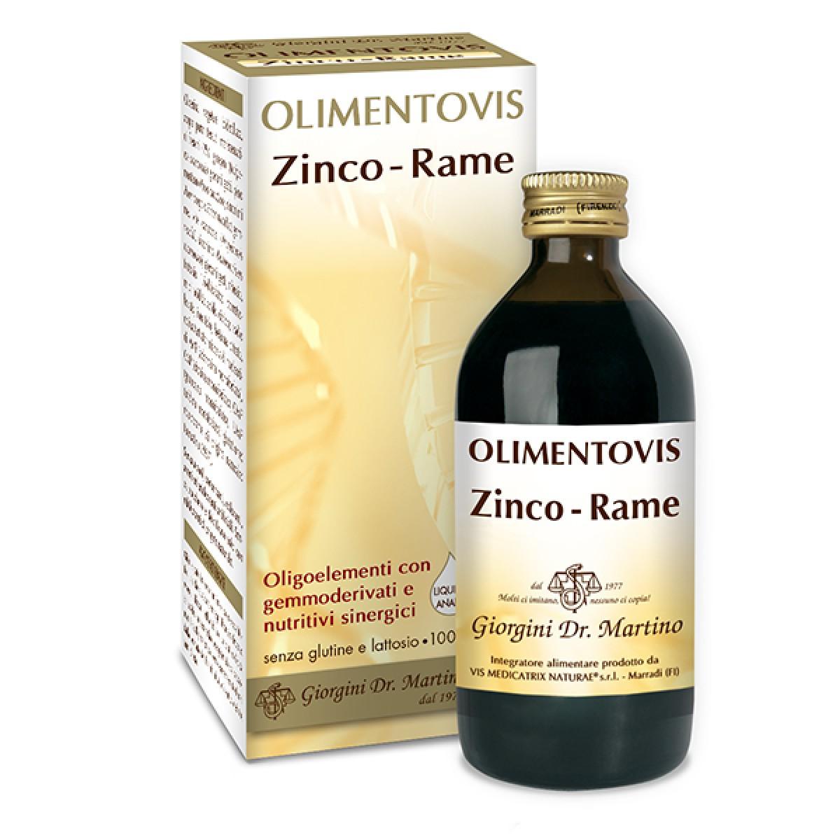 Zinco Rame Olimentovis 200nl Oligoelemento Zn-Cu